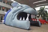 Kundenspezifischer Bulldogge-themenorientierter aufblasbarer Tunnel für Sport-Teams