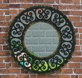Espelho redondo do espelho do indicador do jardim do ferro feito