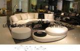 Sofá de la sala de estar con el sofá moderno del cuero genuino fijado (UL-NSC007)