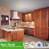 Disegno americano dell'armadio da cucina di legno solido di stile