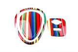 MEDIADOS DE emblema de la entrada de información del USB de Airvent del arco iris para Mini Cooper F56
