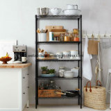 Шкаф кухни хранения утвари черного яруса металла 5 регулируемый