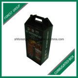 Uma caixa de papelão de flauta ondulada para embalagem de extintor de incêndio