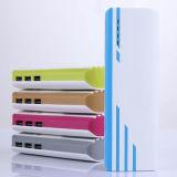 Cargador externo triple colorido con la batería portable de la potencia de la linterna del LED