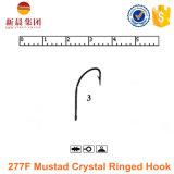 gancho de leva anillado cristalino de 277f Mustad