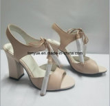 leather Square Heel Kid 숙녀 여자 샌들