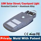 Luz al aire libre solar impermeable moderna de la pared de IP65 LED