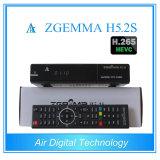 O produto novo o mais quente Zgemma H5.2s com sustentação gêmea Hevc/H. 265 do receptor satélite dos afinadores de Bcm73625 DVB-S2+S2
