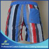 O Sublimation feito sob encomenda caçoa Shorts da placa dos esportes da praia de Microfiber