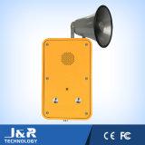 Wand, die industrielle Wechselsprechanlage, Freisprechtelefon, Emergency Tasten-Telefon einhängt