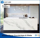 Opgepoetste Countertop van de Steen van het Kwarts voor de Decoratie van het Huis van de Keuken met SGS Normen (Marmeren kleuren)