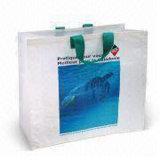 Рециркулируйте хозяйственную сумку промотирования многоразовую Non сплетенную (LJ-163)