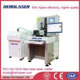 Una soldadora más alta de laser de la fibra del rendimiento laboral 1000W del 80% para el perfil industrial del tubo