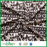 Black&White 잎은 여자를 위한 스판덱스 수영복 직물을 인쇄했다