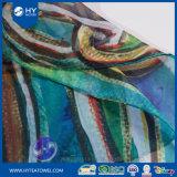 印刷されるデジタルは女性の絹の軽くて柔らかいスカーフをカスタム設計する