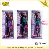 PVC imprimible que empaqueta el rectángulo de la muñeca de Barbie