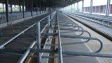 Fabrik-Preis-Kiesel-Muster-Oberseite-Kuh-Matten-Gummi-Mattenstoff