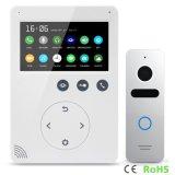 Memoria de 4,3 pulgadas del hogar del timbre de Seguridad vídeo portero automático Intercom