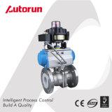 Válvula de esfera da flange do aço inoxidável com atuador pneumático e acessórios