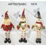 Décoration Gift-2asst de Noël de Santa et de bonhomme de neige