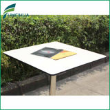 White Color Round Cornerの4 People Square Kfc Fast Food Table