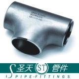ANSI B16.9 het Naadloze T-stuk van de Pijp van de Montage van de Pijp van het Roestvrij staal