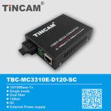 external Power Media Converter del 10/100m Single Mode Dual Fiber el 120km