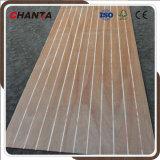 Parement massif en bois de pin à rainures en polycarbonate phénolique E0