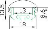 [هّ-ب039-90] سطحيّة يعلى [لد] ألومنيوم قطاع جانبيّ