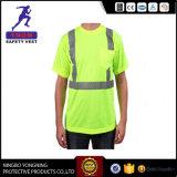 Camisas de polo do trabalho da segurança do Vis de Shirt/Hi dos homens da segurança