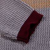 Ansatz-gestreifte Strickjacke-Wolljacke der Form-Auslegung-Baumwollev
