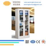 Lh37完全な高さのオフィスの使用のためのガラスドアのファイリングキャビネット