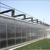 Serra prefabbricata del blocco per grafici dello strato di alluminio del policarbonato con il singoli portello scorrevole e sistema di Ventilcation