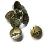 Het Nikkel van uitstekende kwaliteit en de Loodvrije Knoop van Jeans Grament