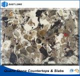 Bancada durável de quartzo para o material de construção de superfície contínuo de pedra com preço do competidor (cores dobro & múltiplas)