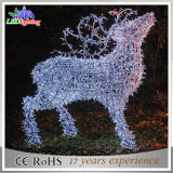 3D Outdoor Commercial Made in China Christmas Reindeer with Rope Lights
