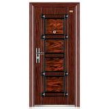 Стальная Дверь Качели Безопасность Двери Популярные Одноместный Утюг Дверь (FD-010)