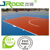 Surface résistante de sport d'enduit d'étage de terrain de basket de temps de polyuréthane