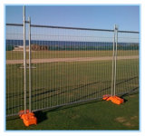 Plastik, der temporäre Zaun-Plastikfüße Durchbrennen-Formt