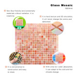 Hojas del azulejo del vidrio manchado del mosaico de Backsplash del corte de la mano