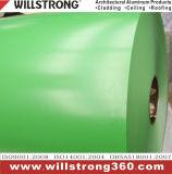 Bobine en aluminium de couleur en vert pour l'ACP