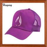 紫色の刺繍の網の綿の野球帽