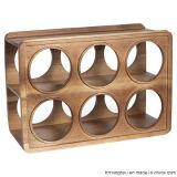 Стеллаж для выставки товаров шкафа вина самомоднейшей и практически конструкции деревянный