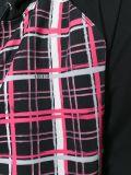 형식 여자의 줄무늬로 한 Zip Hoodies
