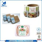 Anhaftende Wärme widerstehen Nahrungsmittelverpackungs-Aufkleber-Kennsatz