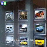 Soffitto del segno della finestra che appende la casella chiara di cristallo del blocco per grafici LED del bene immobile