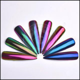 광학적인 변하기 쉬워 카멜레온 색깔 크롬은 분말을 네일링한다