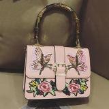 Sac à main en cuir d'unité centrale de Madame Embroidery Tote Shoudler Bag de créateur pour les femmes Sy8493