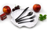 Cuillère et fourche de dessert incluses de couteau de fourche de cuillère de dîner de couverts argentés d'acier inoxydable