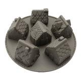 El molde material del silicón de la categoría alimenticia del certificado del FDA, 6PCS 3D se dirige el molde Shaped de /Chocolate del molde del pudín del silicón/el molde de la torta del silicón